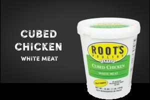 cubed chicken
